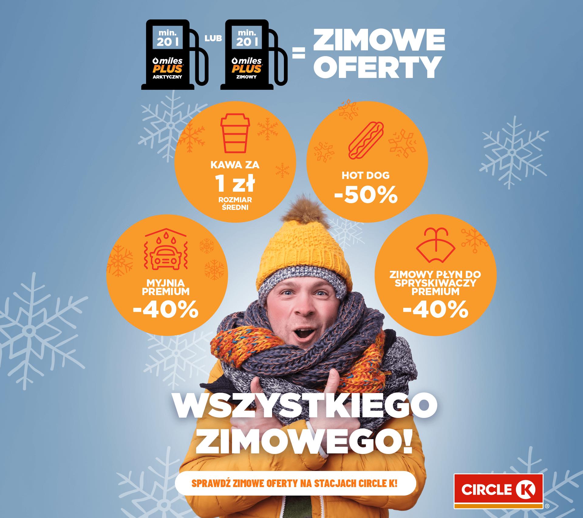 Zimowe oferty na stacjach Circle K